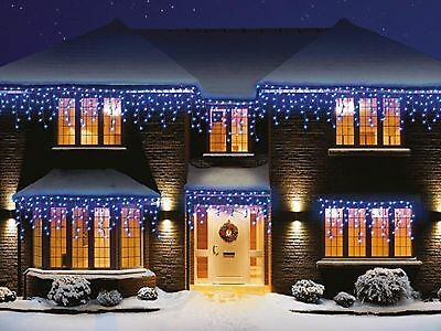 960 Christmas LED Snowing Icicle Lights Bright White Blue Xmas  Indoor Outdoor • 99.99£