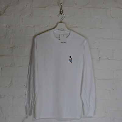 Actual Fact Kendrick Lamar Kneel Embroidered White Long-Sleeved Tee T-Shirt • 23£