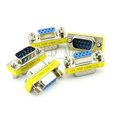 AU5.09 • Buy 5 PCS 9 Pin RS232 DB9 Male To Female Serial Cable Gender Changer Coupler Adapter