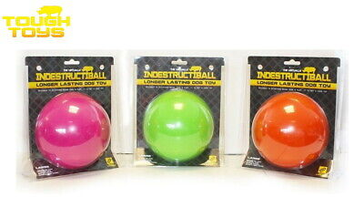 *new* Lge 12.7cm Dog Puppy Tough Indestructiball Floating Dog Toy Ball 4 Colours • 10.95£