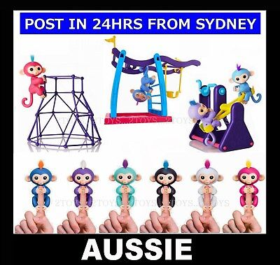 AU14.90 • Buy Finger Baby Monkey Electronic Interactive Motion Toy Or Bar Swing Seesaw Playset