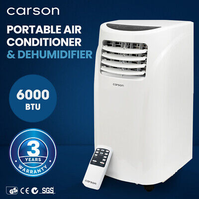 AU304 • Buy CARSON 4in1 Portable Air Conditioner 6000BTU Mobile Fan Cooler Dehumidifier