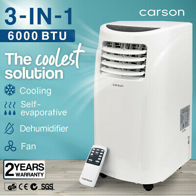 AU339 • Buy 【EXTRA15%OFF】CARSON 4in1 Portable Air Conditioner 6000BTU Mobile Fan Cooler