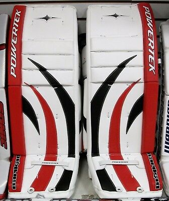 $179.99 • Buy New Powertek Barikad Goal Goalie Leg Pads Red/black 28  Jr Junior Ice Hockey Pad