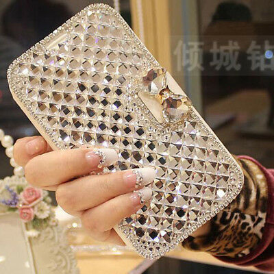 AU16.95 • Buy Bling Crystal Diamond Flip PU Leather Stand Case Cover For OPPO A83 F7 R15 K1 A7