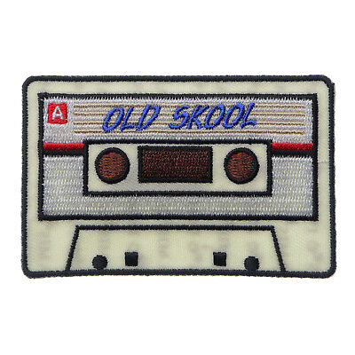 Embroidered Old Skool Radio Cassette Sew Or Iron On Patch Biker Patch • 5£