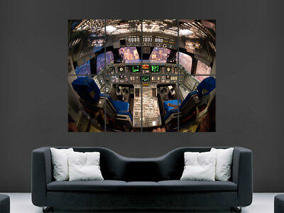 Space Shuttle Cockpit Aeroplane Space Huge Large Wall Art Poster Picture • 17.99£