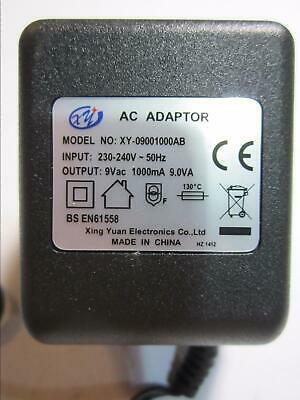 9V AC 500mA AC Adaptor For MOSTT1000 Ministry Of Sound Twin DJ Turntables • 14.99£