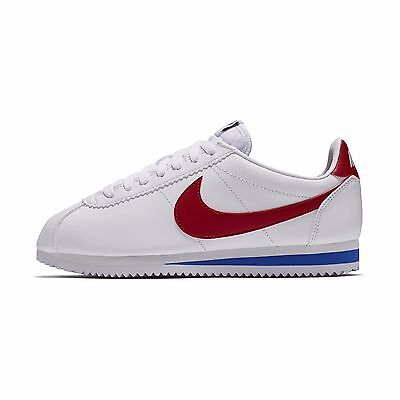 AU85.87 • Buy New Nike Women's Classic Cortez Leather Shoes (807471-103)  White//Var Red-Royal