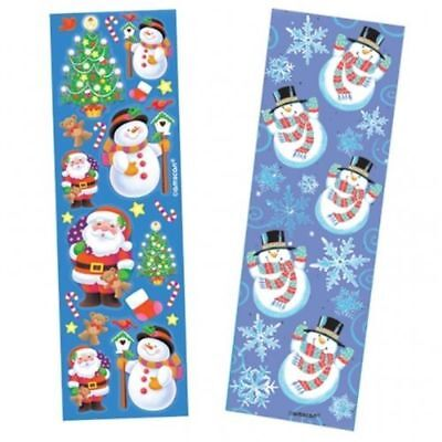 £1.99 • Buy 8 Christmas Sticker Strips For Kids Crafts | Party Bag Fillers - Per Pack
