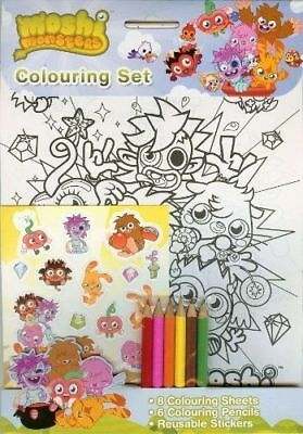 £2.99 • Buy Moshi Monsters Colouring Set - Stickers, 6 Pencils, Printed Coluoring Sheets