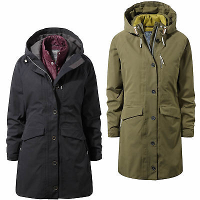 Craghoppers 365 5 In 1 Hooded Jacket Womens Waterproof Inner CompressLite Jacket • 149.95£
