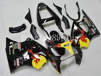 $509 • Buy Black Red Yellow ABS Injection Fairing Kit Fit For 2000-02 ZX6R 2005-08 ZZR600