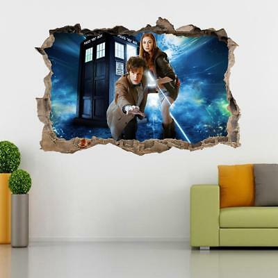 £29.99 • Buy Doctor Dr. Who Tardis 3D Smashed Wall Sticker Decal Home Decor Art Mural J978