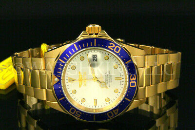 $ CDN65.28 • Buy NEW Invicta Men 40mm Pro Diver Gold Dial 18K Gold Plated S.S Bracelet Watch