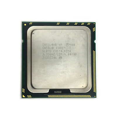 $ CDN113.62 • Buy INTEL Hexa-Cores CPU I7-980 3.33GHZ/12MB 4.8GT/s CPU LGA1366 SLBYU Processor