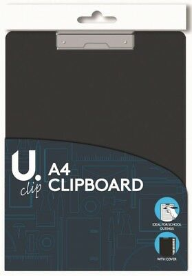 A4 Clipboard With Folding Cover & Sprung Clip Office School Outings Clip Board • 2.78£
