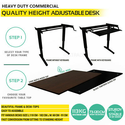 AU74.99 • Buy Height Adjustable Standing Desk Stand Up Office Desk -SELECT YOUR COMPONENTS!