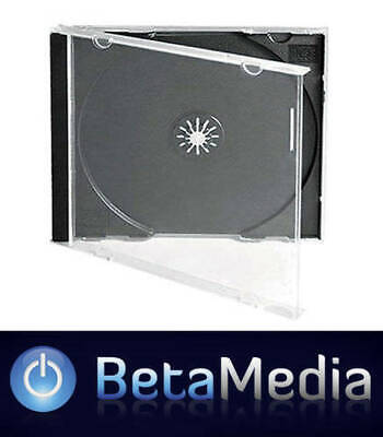 AU58.30 • Buy 100 X Jewel CD Cases With Black Tray Single Disc - Standard Size Case