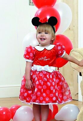 Fancy Dress Costume ~ Disney Baby Minnie Mouse Age 3-24 Months • 17.99£
