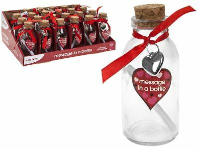 Valentines Message In A Bottle Gift Romantic Anniversary Love • 3.99£