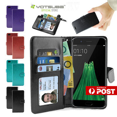 AU9.89 • Buy OPPO R11s Plus Premium Leather Flip PU Wallet ID Card Case Cover Stand For Oppo