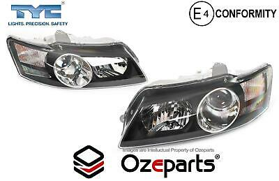AU238.77 • Buy Pair LH+RH Head Light Projector Black For Holden Commodore VY Calais HSV 02~04