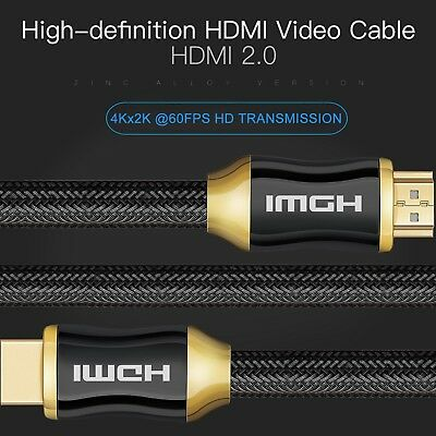$ CDN13.78 • Buy 4K Ultra 50FT 25FT 6FT HDMI Hi-Speed Cable 2.0 18Gbps 3D TV 2160p PS4 SKY HD Lot