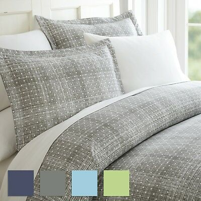 $22.99 • Buy Polka Dot Patterned 3 Piece Duvet Cover Set - Hotel Collection By IEnjoy Home