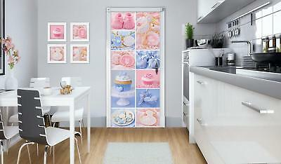 Door Mural Photo Sticker Non-woven 10443_VET Colourful Cupcakes Food Sweets Cand • 28.90£