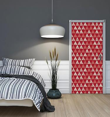 Door Mural Photo Sticker Non-woven 10741_VET Triangles Mosaic Abstract Geometry • 28.90£