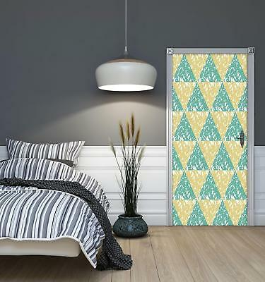 Door Mural Photo Sticker Non-woven 10743_VET Triangles Mosaic Abstract Geometry • 28.90£