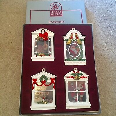 $ CDN12.17 • Buy Norman Rockwell's Legend Of Santa Christmas Ornaments Collection 4 In Box