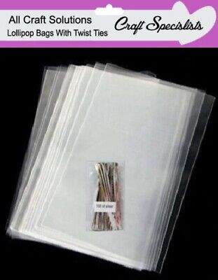 £3.40 • Buy Clear Cello Cellophane Lollipop Bags / Display Bags/cookies/sweets With Ties