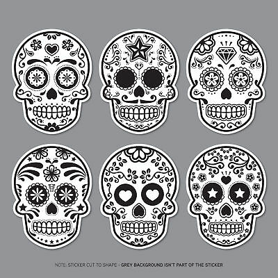 6 X Day Of The Dead - Calavera - Sugar Skull - Flower - Decals Stickers - 2806 • 2.99£