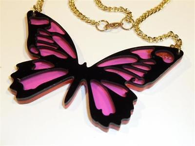 Laser Cut Butterfly Necklace - Acrylic - Free Uk P&p......cg2031 • 8.99£