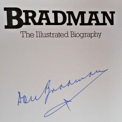 AU828 • Buy Cricket Don Bradman Hand Signed Original Autograph Biography Book