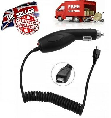 In Car Charger With Coil Cable For TomTom ONE V4/v5/XL V2/IQ Routes/XXL/Classic • 2.69£