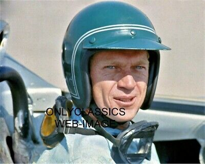 $12.45 • Buy '67 Cool Steve Mcqueen Open Face Helmet In Lola T70 Auto Racing Sports Car Photo