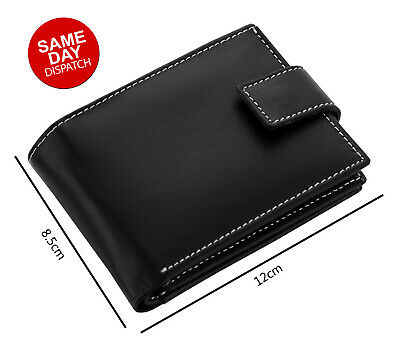 AU21.99 • Buy Mens GENUINE Leather Wallet Slim RFID Blocking Trifold Pocket Card Holder Purse