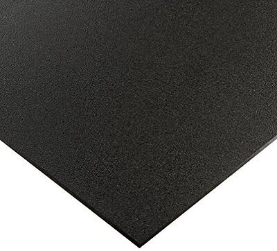 "$29.50 • Buy Black Marine Board HDPE Polyethylene Plastic Sheet 1/2"" - 0.500  Thick Textured"