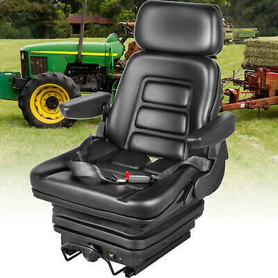 $261.99 • Buy Suspension Seat Tractor Foldable Excavator Dozers Wheel Loaders With Seat Belt