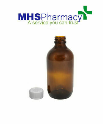 £4.29 • Buy  200 Ml AMBER GLASS BOTTLES SYRUP COSMETIC AROMATHERAPY PHARMACEUTICAL