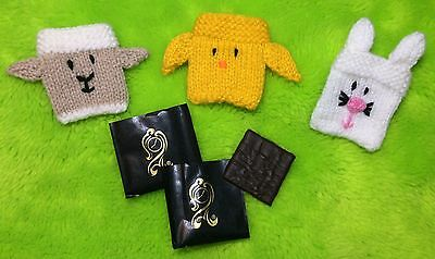 £2.99 • Buy KNITTING PATTERN - Easter Mint Covers Fits After Eight- Chick, Lamb, Bunny