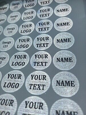 £9.99 • Buy Personalized Custom Hologram Labels Stickers Warranty Tamper Proof