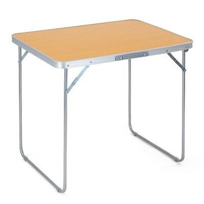 £27.99 • Buy Folding Camping Table Portable Lightweight Beech Effect Picnic BBQ Carry Handle