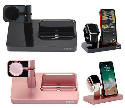 $ CDN21.54 • Buy Charging Dock Station Charger Phone Stand For Apple Watch Series 4 3 2 1 IPhone