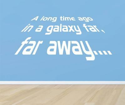 £21.99 • Buy LONG TIME AGO IN A GALAXY Star Wars Quote Decal WALL STICKER Art Decor SQ1042
