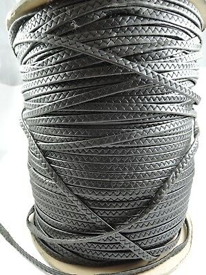 £3.99 • Buy Black Braid Braided Faux Leather Cord Jewellery Cord String 10 Meters X 6mm