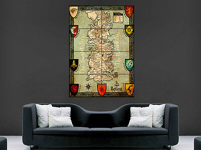 £17.99 • Buy Game Of Thrones Map Poster Seven Kingdoms Of Westeros Art Picture Print Large